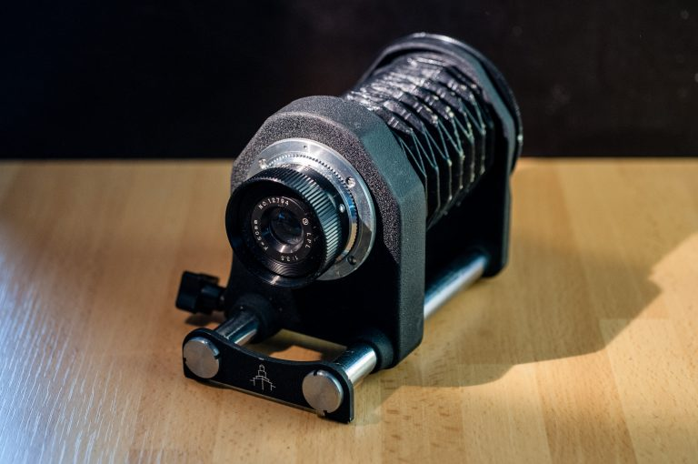 Pentacon macro bellows + LPL lens