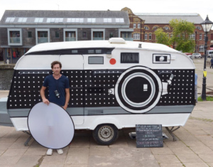 Brendan Barry makes cameras out of anything even a Caravan