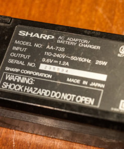 Sharp Videocamera battery charger Model AA-73s