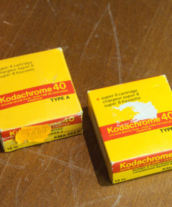 2x Kodachrome 40 super 8 cartridge