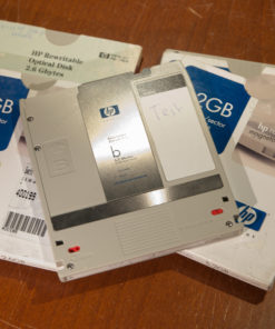 4x HP rewritable MO disks (used)