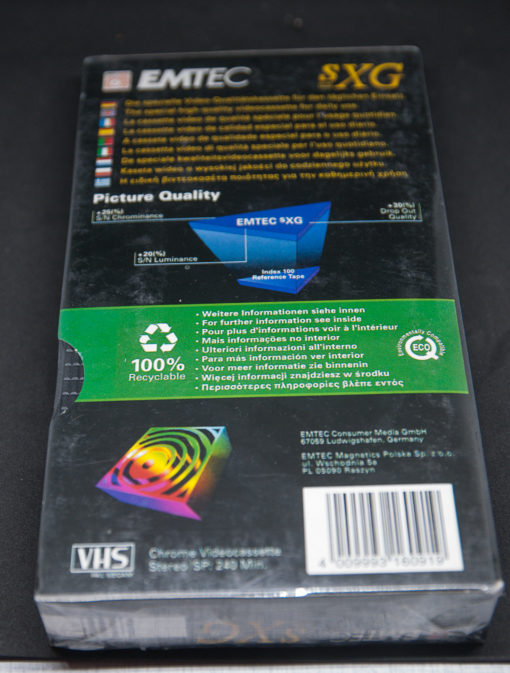EMTEC SXG E-240min VHS tape factory sealed