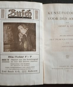 Booklet from 1922 bound in black with a chapter on the pigmogravure process bromine oil printing gum printing noble processes Old photographic processes Tessar advertising Emil Busch advertising